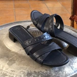 EUC Navy Coach Sandals